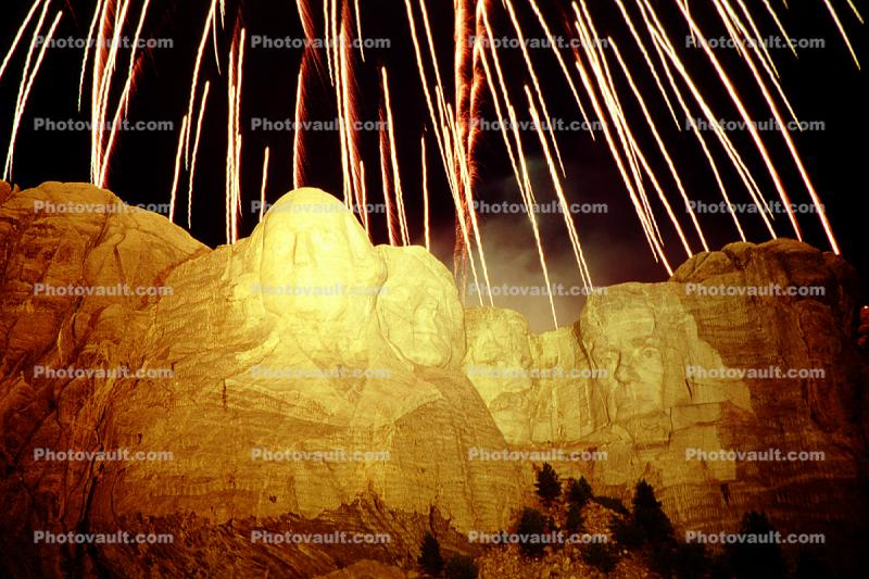 Fireworks over Mount Rushmore National Memorial