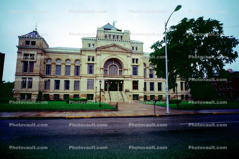 Old Sedgwick County Courthouse, government building, pyramid roof, landmark, huge, big