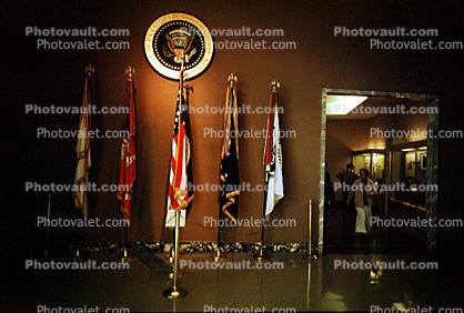 Flags, Presidential Seal, Truman Museum, Independence