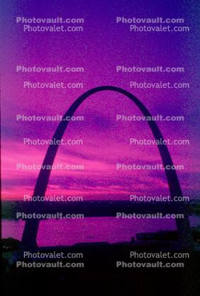 The Gateway Arch, Twilight, Dusk, Dawn