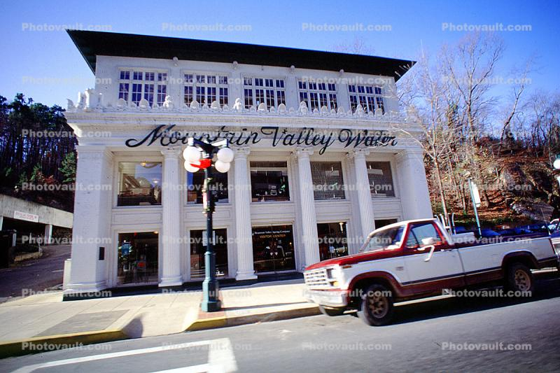 Mountain Valley Water, Pickup Truck, Hot Springs, Garland County, landmark