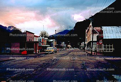 Dirt Road, unpaved, Skagway, cars, automobiles, vehicles