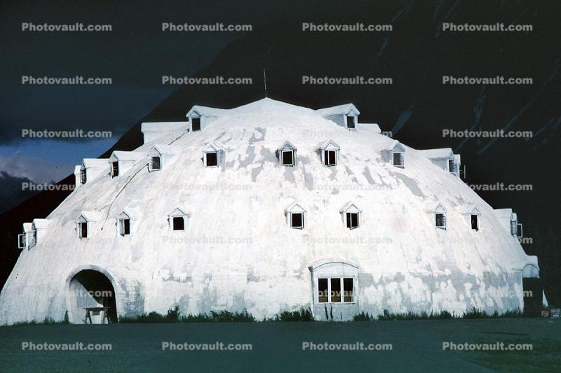 Igloo Hotel, near Denali National Park, dome, building, unique