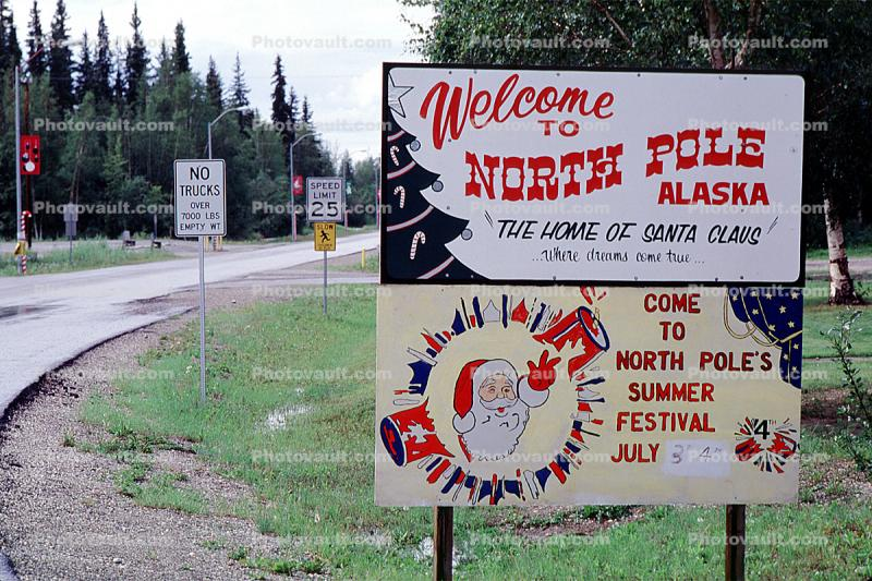 Welcome to North Pole, town of North Pole, Santa Claus