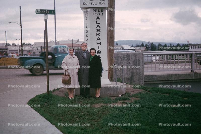 Mile 1523, Alaska Highway, Chena River, 1950s