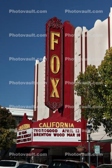 Fox Theatre, Salinas, Downtown, art deco, marquee