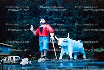 Paul Bunyan and Babe the Blue Ox, Klamath, California, Humboldt County, Trees of Mystery, Pacific Coast Highway-1, PCH