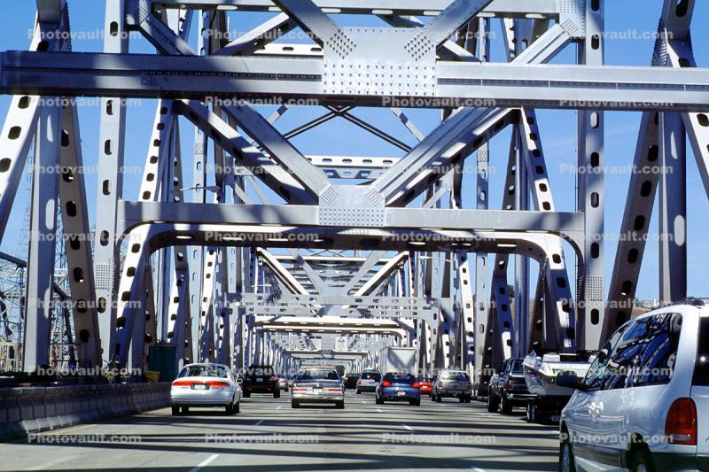 Carquinez Bridge, cars, automobiles, vehicles, Interstate Highway I-80