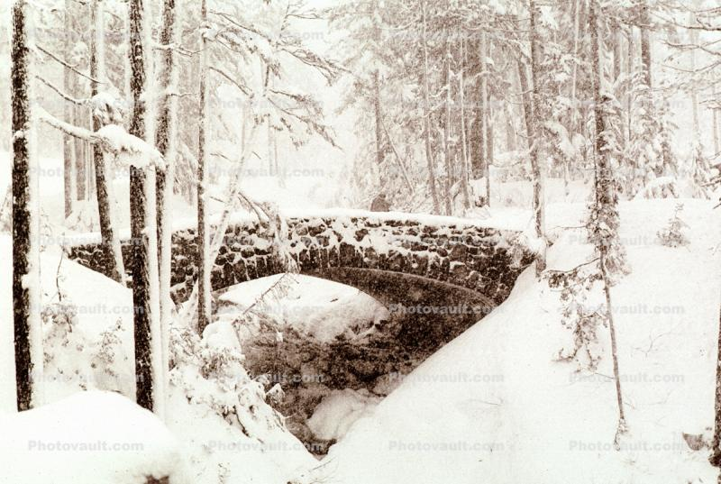 Snow, Cold, Ice, Frozen, Icy, Winter, Stone Bridge