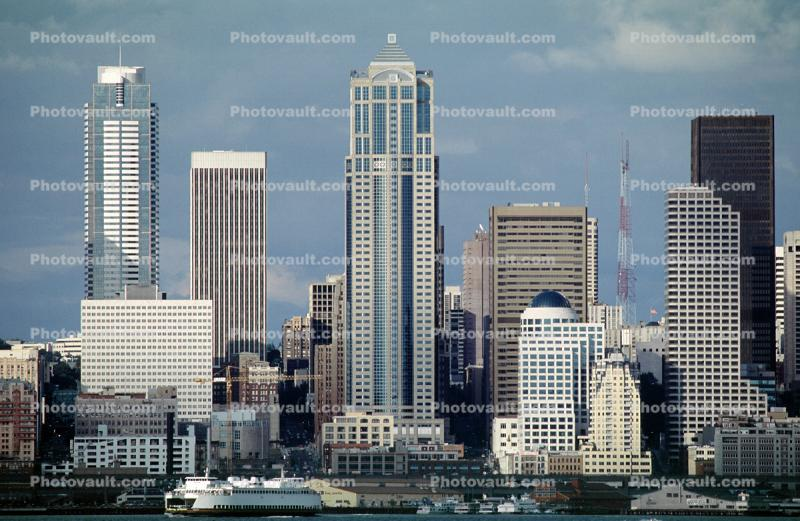 1201 Third Avenue Tower, Cityscape, Skyline, Building, Skyscraper, Downtown, highrise office, piers, ferryboat, ferry, waterfront