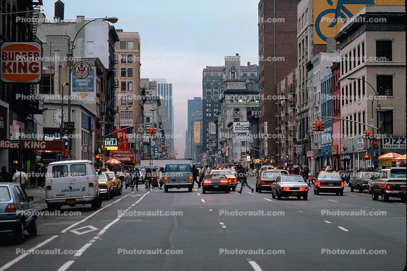 Sixth Avenue, Greenwich Village, Cars, automobile, vehicles, Manhattan