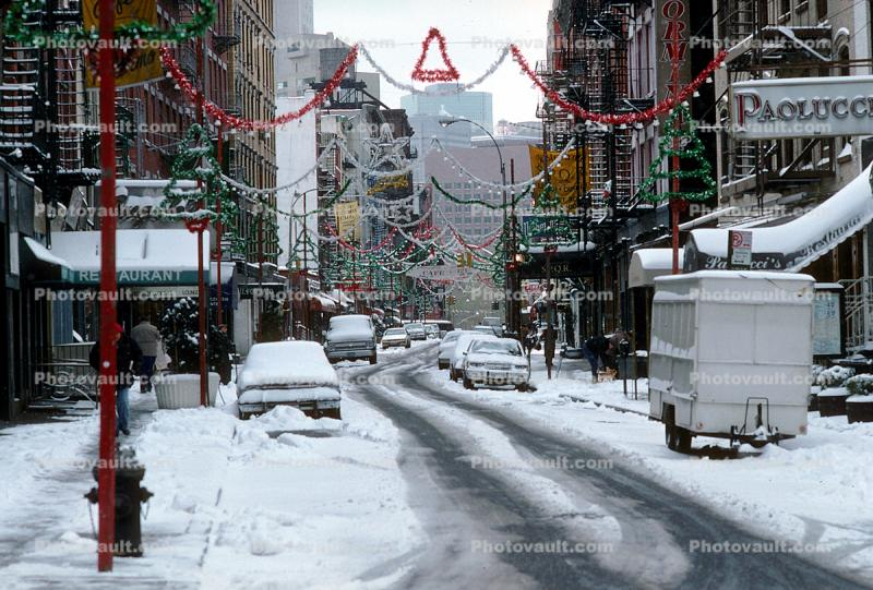 buildings, winter, wintertime, snow, Cars, automobile, vehicles