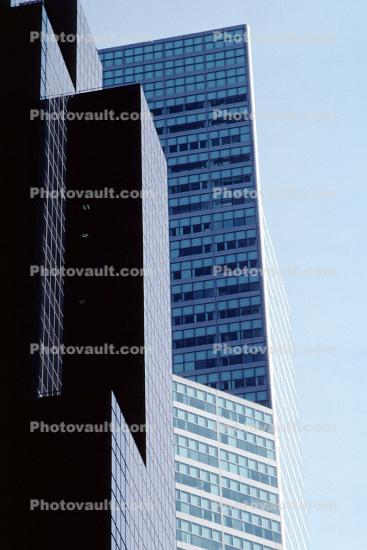 skyscraper, building, reflection, abstract, Manhatta