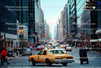 Yellow Taxi, Cab, skyscraper, building, Manhattan, Cars, automobile, vehicles