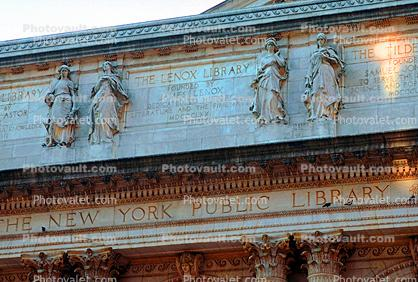 The Lenox Library, bar-Relief, The New York Public Library, frieze