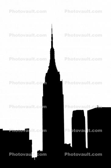 Empire State Building silhouette, New York City, logo, shape