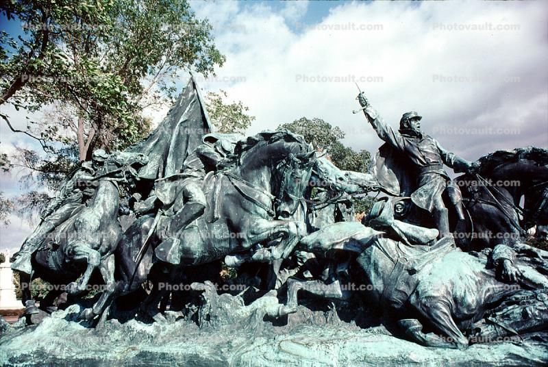 Civil War Statue, horses, Infantry, Ulysses S. Grant Memorial