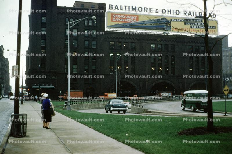 Baltimore & Ohio Railroad Billboard, 1950s