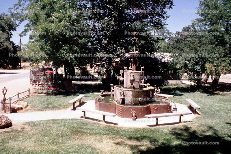 Parkfield Water Company, Water Fountain, aquatics, Park, Benches, Monument, Parkfield, Monterey County