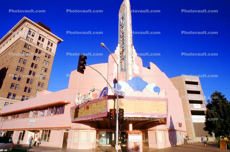 Crest Theater, Art Deco, marquee