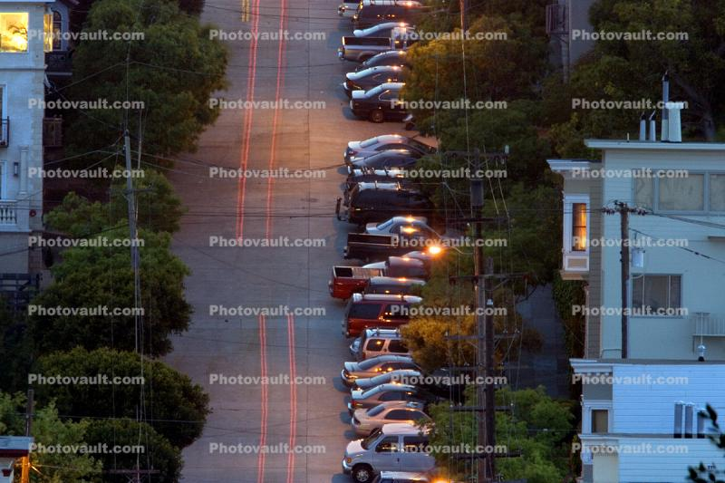 Lombard Street, Parked Cars