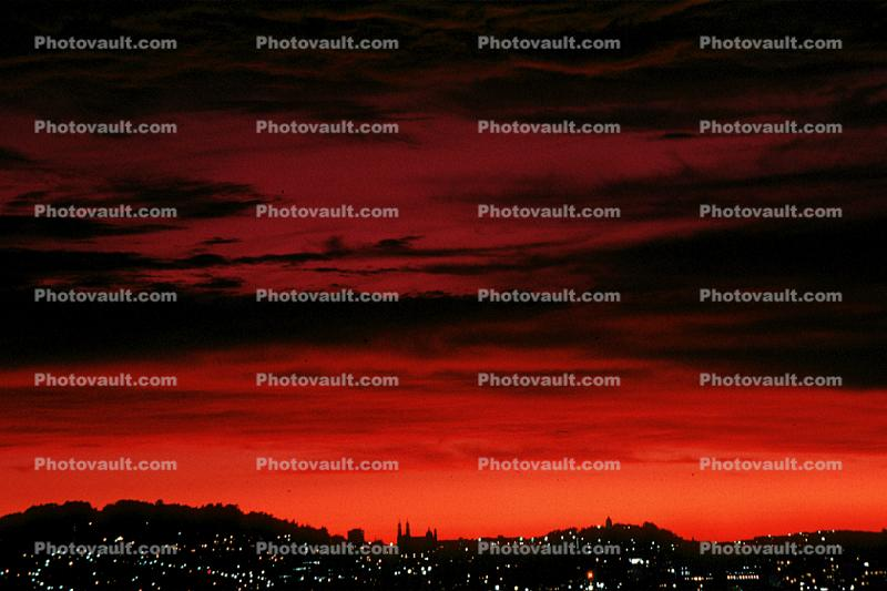 View from Potrero Hill, Sunset, Sunclipse, dusk, dawn, twilight