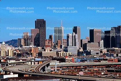 View from Potrero Hill, Interstate Highway I-280, skyline