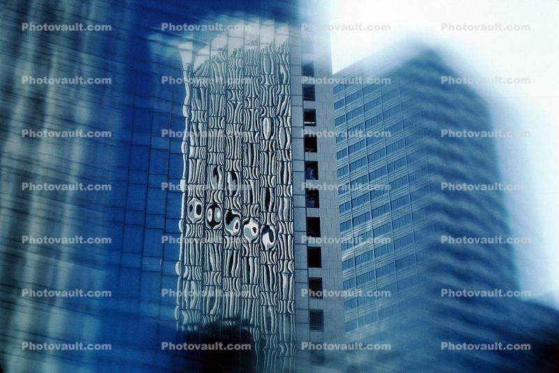 building, glass reflection, abstract, detail