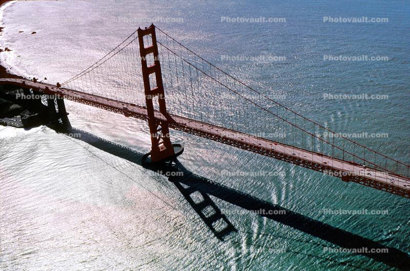 Golden Gate Bridge Silver Sheen Aerial