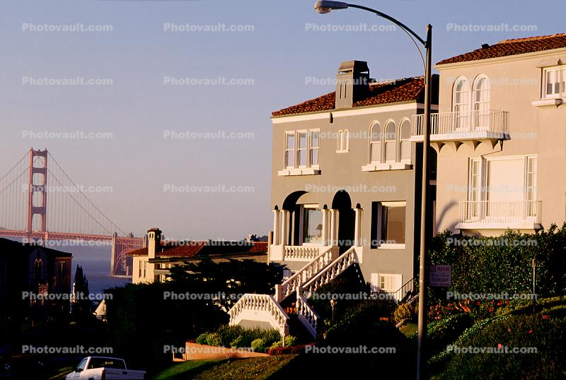 SeaCliff, Homes, Mansions, buildings, residence, Golden Gate Bridge