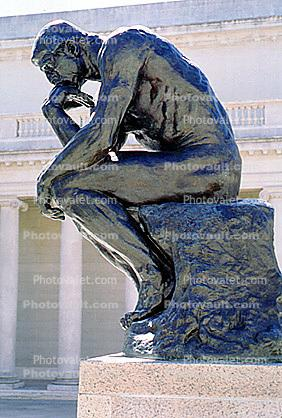 the Thinker, statue, sculpture