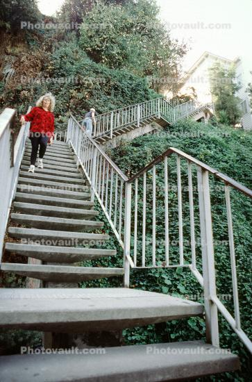 Filbert Street Steps, Telegraph Hill, Staircase, Stairs, Jungle