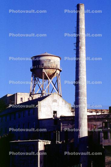 Alcatraz Island Water Tower, Smokestack