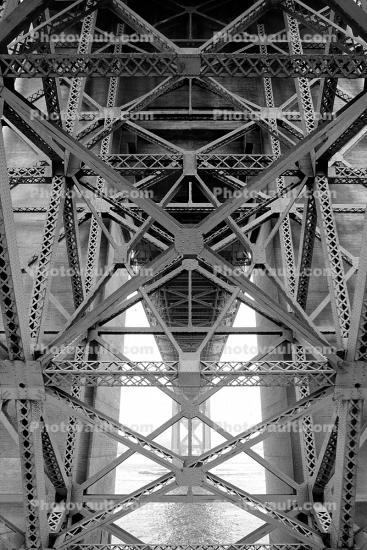 Golden Gate Bridge, matrix, lattice work, truss, detail