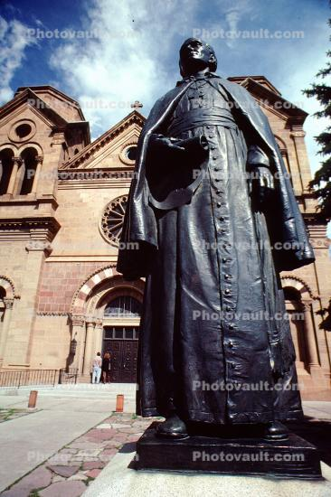 Statue of Archbishop J B Lamy, Cathedral Basilica of St. Francis of Assisi, St. Francis Cathedral, Santa-Fe
