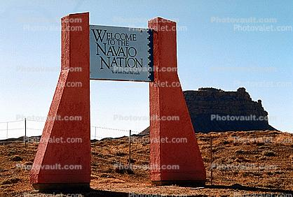 Welcome to the Navajo Nation, San Juan County, New Mexico, USA