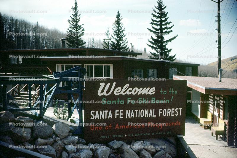 Welcome to the Santa-Fe Ski Basin, Santa-Fe National Forest