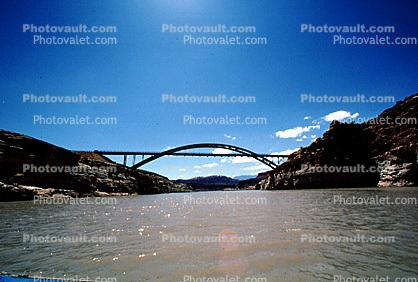 The Hite Bridge, Steel through Arch Bridge, Colorado River, State Route 95, San Juan County