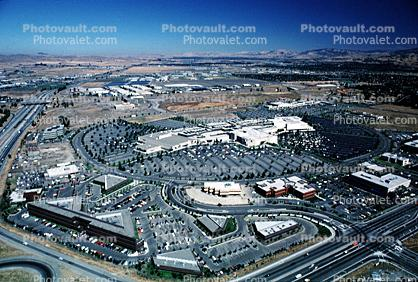 Foothill Shopping Center, buildings, parking lot, roads, streets, mall, suburbia, suburban