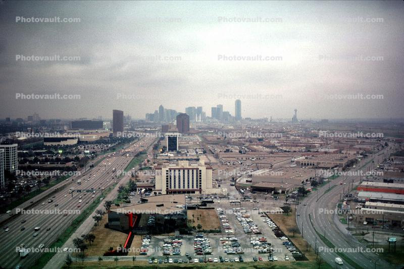 Interstate Highway, Downtown Dallas, texture, urban, sprawl, exterior, outside, outdoors, buildings, Cityscape, skyline, skyscrapers, Metropolitan, Metro