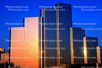 Hyatt Regency Hotel, downtown buildings, highrise, glass