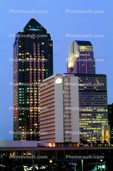 Dallas Skyline, downtown, Twilight, Dusk, Dawn