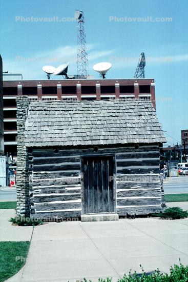 Dallas County Post Office, first post office, landmark, Log Cabin, building, 1843