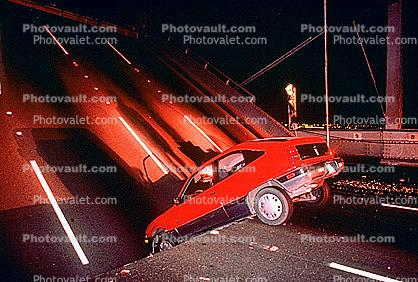 Collapsed Section of the Bridge, Loma Prieta Earthquake (1989), San Francisco Oakland Bay Bridge, 1980s