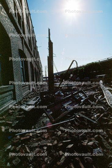 Bricks, Townsend Street, south of Market, SOMA, Loma Prieta Earthquake (1989), 1980s