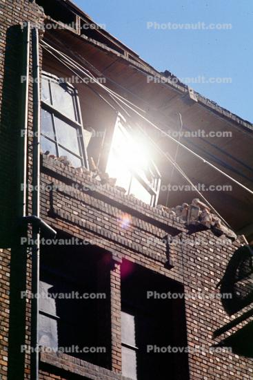 Brick Building, south of Market, SOMA, Loma Prieta Earthquake, (1989), 1980s