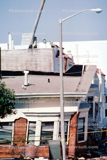 Collapsed Apartment Building, Marina district, Loma Prieta Earthquake (1989), 1980s
