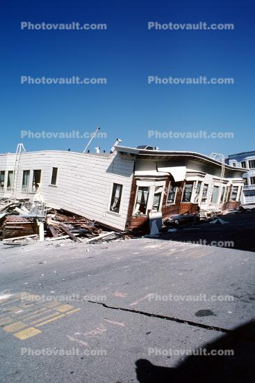 Collapsed Home, Marina district, Loma Prieta Earthquake (1989), 1980s
