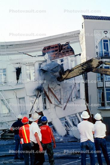 Fillmore Street, Marina district, Loma Prieta Earthquake (1989), 1980's