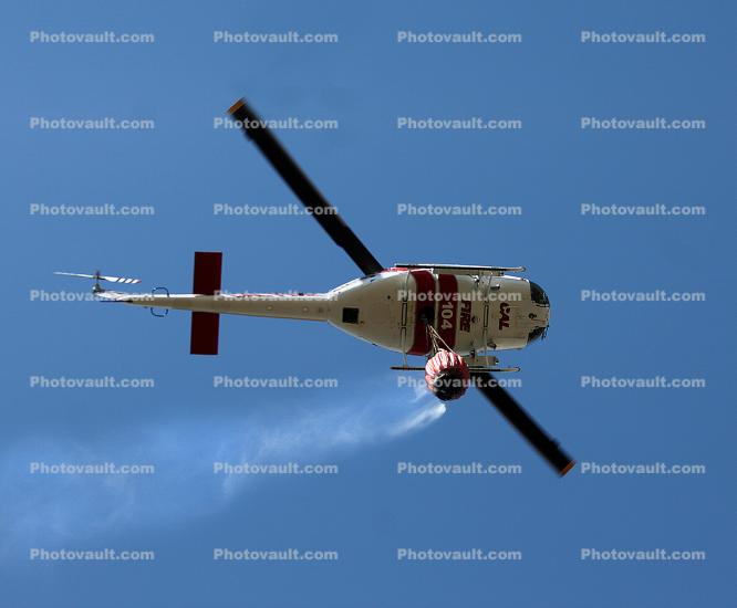 N481DF, 104, CDF, Cal Fire UH-1H Super Huey, Stony Point Road Fire, Sonoma County
